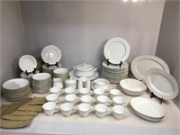 Orleans White Lace china , service for 12 plus