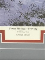 John Strain, LE Print, IForest Hunter , Evening,