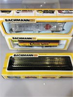Bachman HO train set  in boxes, engine , caboose,