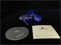 Swarovski Figure, Blue Fighting Fish , original