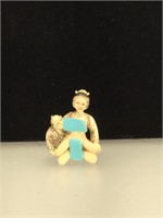 Resin erotic couple p, 2 inches tall