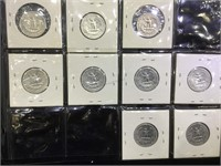2 Sheets of assorted US Silver Coinage and Others