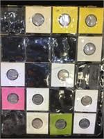 3 sheets of Jefferson Nickels in flips