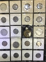 2 sheets of Coinage - some silver