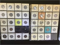 2 sheets of US Coinage - Nickels and Pennies in