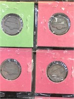 2 sheets of US Coinage - 1964 Kennedy and Nickels