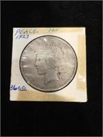 1923 Peace Silver Dollar in flip