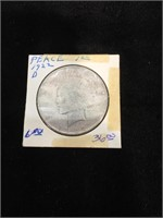 1922-D Peace Silver Dollar in flip