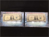 1957 Blue Seal Silver Certificate $1 Notes - Star