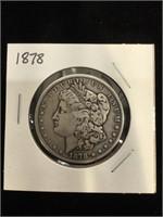 1878 Morgan Silver Dollar in flip