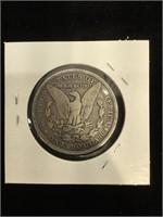 1880-O Morgan Silver Dollar in flip