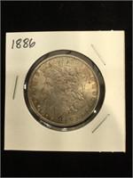1886 Morgan Silver Dollar in flip