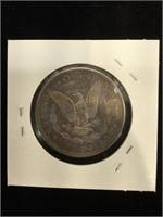 1921-D Morgan Silver Dollar in flip