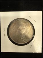 1922 Peace Silver Dollar in flip