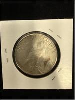 1923-S Peace Silver Dollar in flip