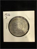 1926-D Peace Silver Dollar in flip