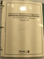American Heirloom Stamp Album - approx. $70 in