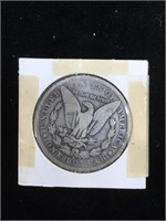 1881-O Morgan Silver Dollar in flip