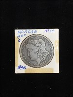 1900-O Morgan Silver Dollar in flip