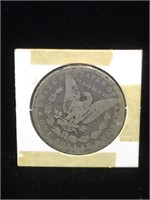 1881 Morgan Silver Dollar in flip