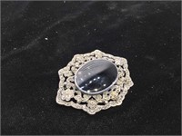 Vintage-style Sterling Silver with Onyx and