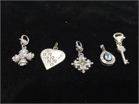 Lot of Sterling Silver pendants and charms -