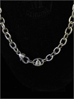 Sterling Silver Judith Ripka necklace - 20 in -