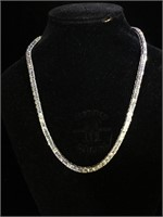 Sterling Silver necklace and bracelet set with