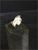Pair of Sterling Silver rings with stones - sizes