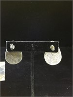 Sterling Silver and MoP earrings - 18g TW