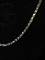 Sterling Silver necklace 34 in long - 22.9g