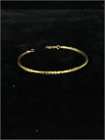 Sterling Silver Vermeil bracelet - 7 in - 4g