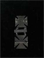 Sterling Silver Rifle Marksman pin - top pin