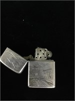 Vintage 950 Fine Silver lighter case with Zippo