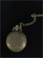 Laurier Horse pocketwatch with fob - not