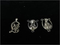 Sterling Silver rosary pendant and other pendants