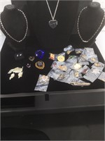 Lot of assorted costume jewelry and more