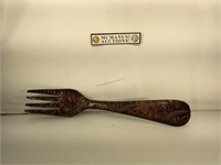 Decorative fork, 28 inches long and 6 inches