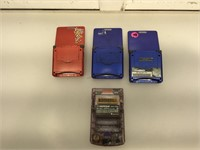3 Gameboy ADVANCE SP and 1 Gameboy Color, missing