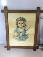2 antique Currier and Ives Hand colored stone
