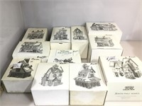 12 Department 56 Handpainted porcelain houses