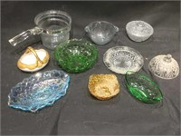 Lot of glass dishes, some press glass and  One