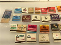 Approx 25 Vintage casino match books