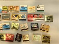 Approx 33 Vintage Casino Match books