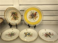 Set of West german hand-painted plates w/ceramic
