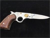 Folding pocket knife in pistol form, Pakistan,