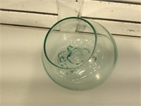 Blown glass bowl,