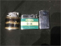 Salem, Zippo, and Robson vintage lighters