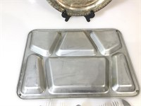 U.S.A military Flatware w/metal tray and more