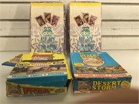 4 1991 boxes full of trading/collectible cards